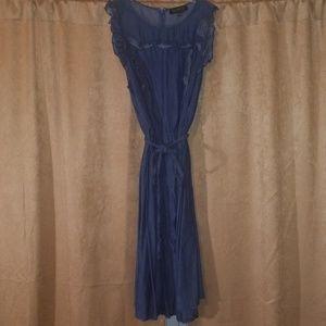 Sleeveless Chambray Dress